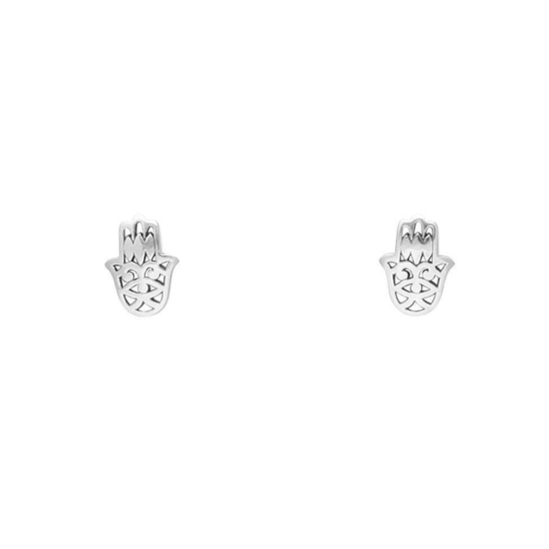Midsummer Star Earrings Hamsa Hand Studs