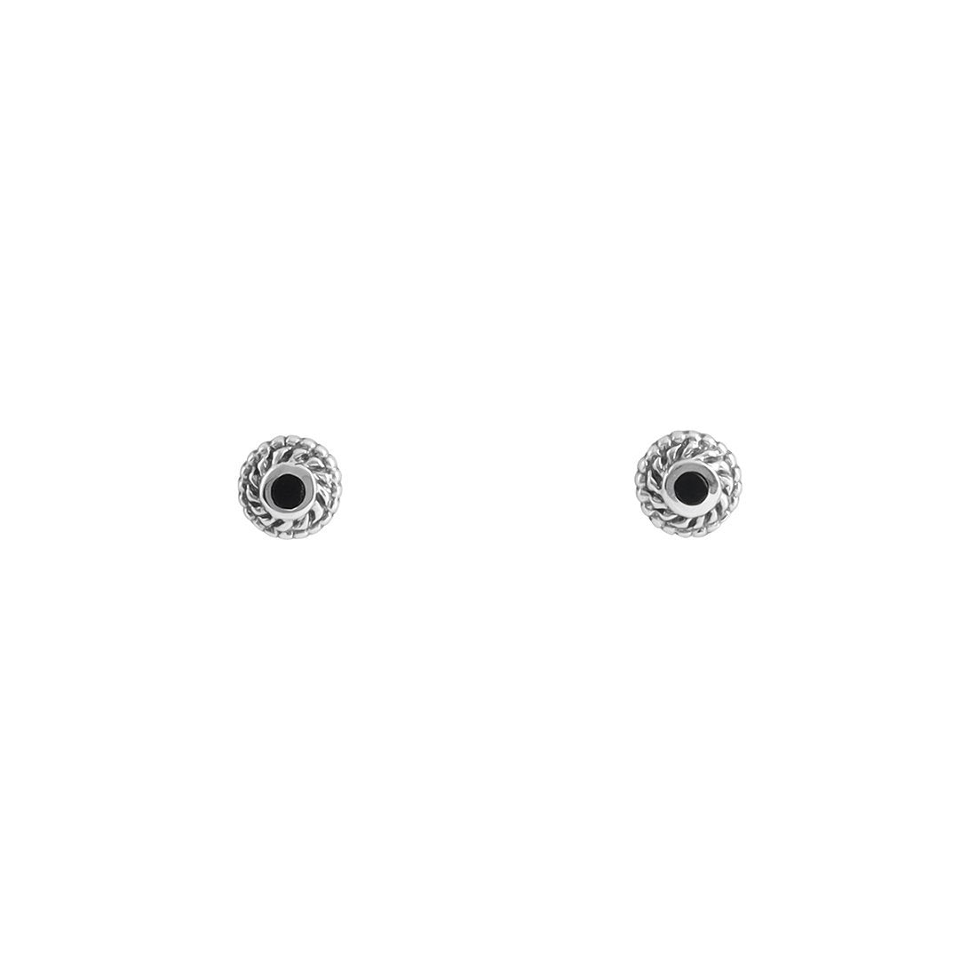 Midsummer Star Earrings Interwoven Onyx Portal Studs