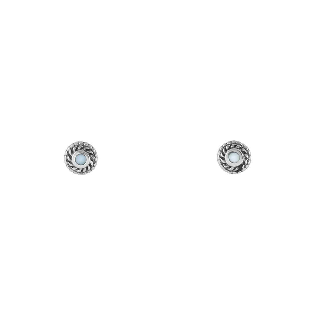 Midsummer Star Earrings Interwoven Pearl Portal Studs