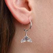 Mandala Dolphin Tail Hoop Earrings