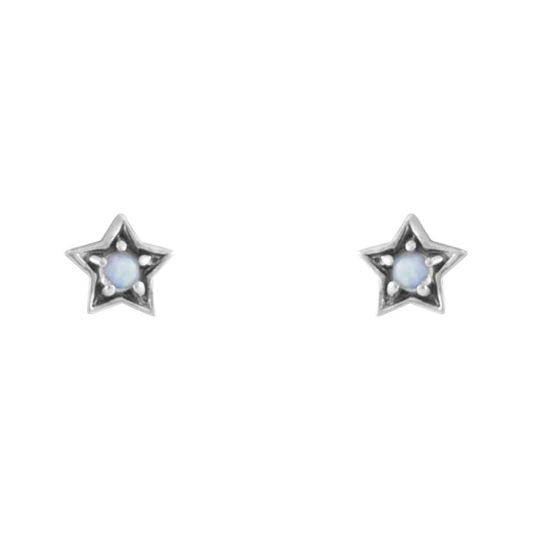 Midsummer Star Earrings Mystic Light Moonstone Studs