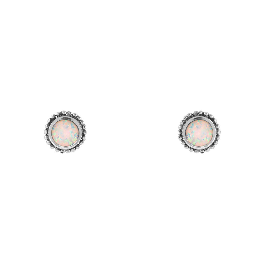 Midsummer Star Earrings Opal Sun Studs