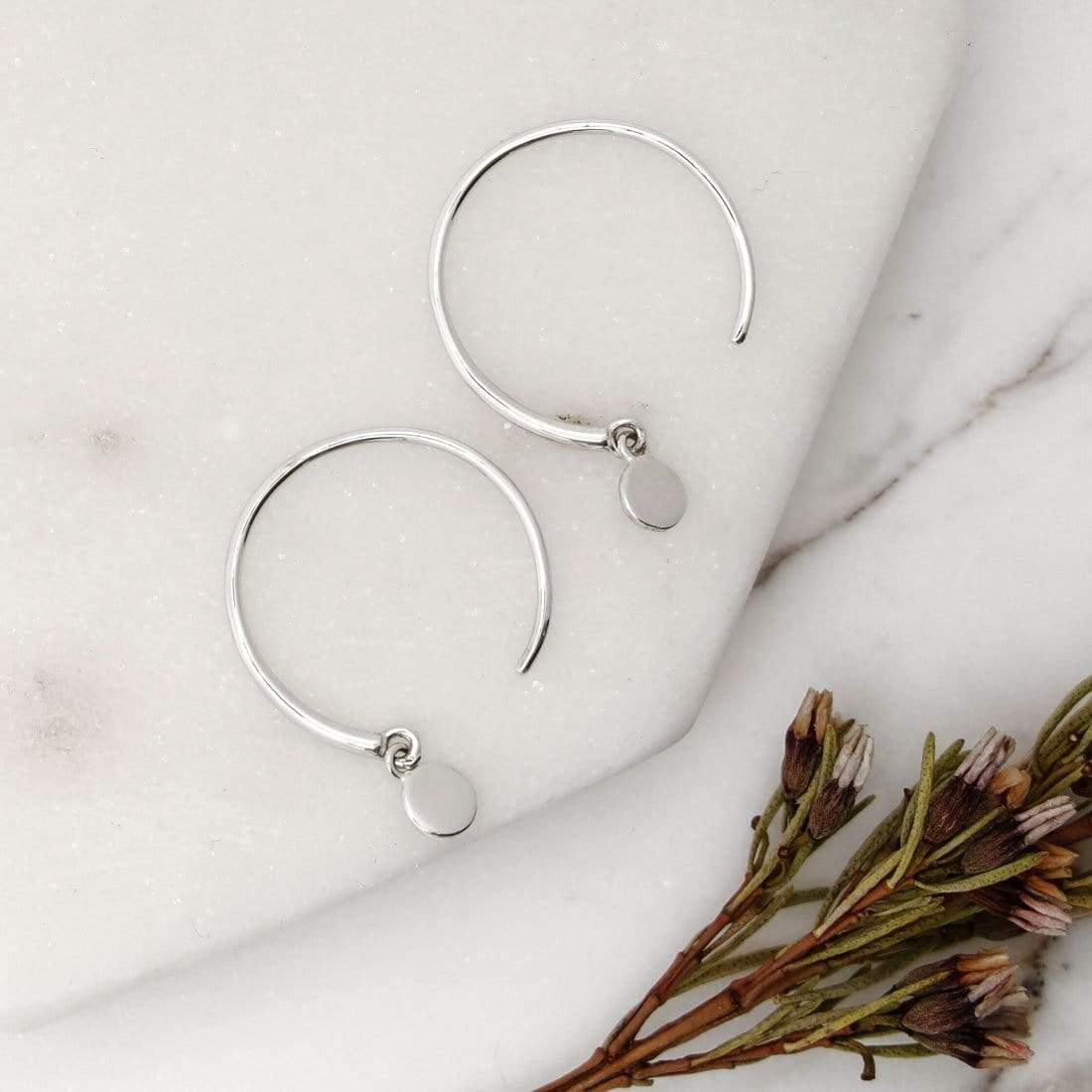 Midsummer Star Earrings Orbit Hoop Earrings
