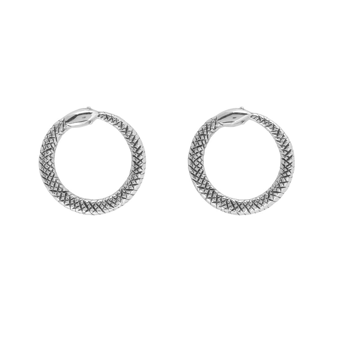 Midsummer Star Earrings Ouroboros Studs