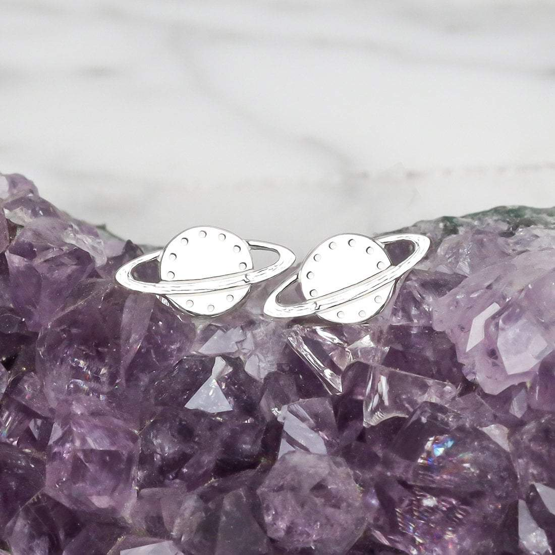Midsummer Star Earrings Rings of Saturn Studs