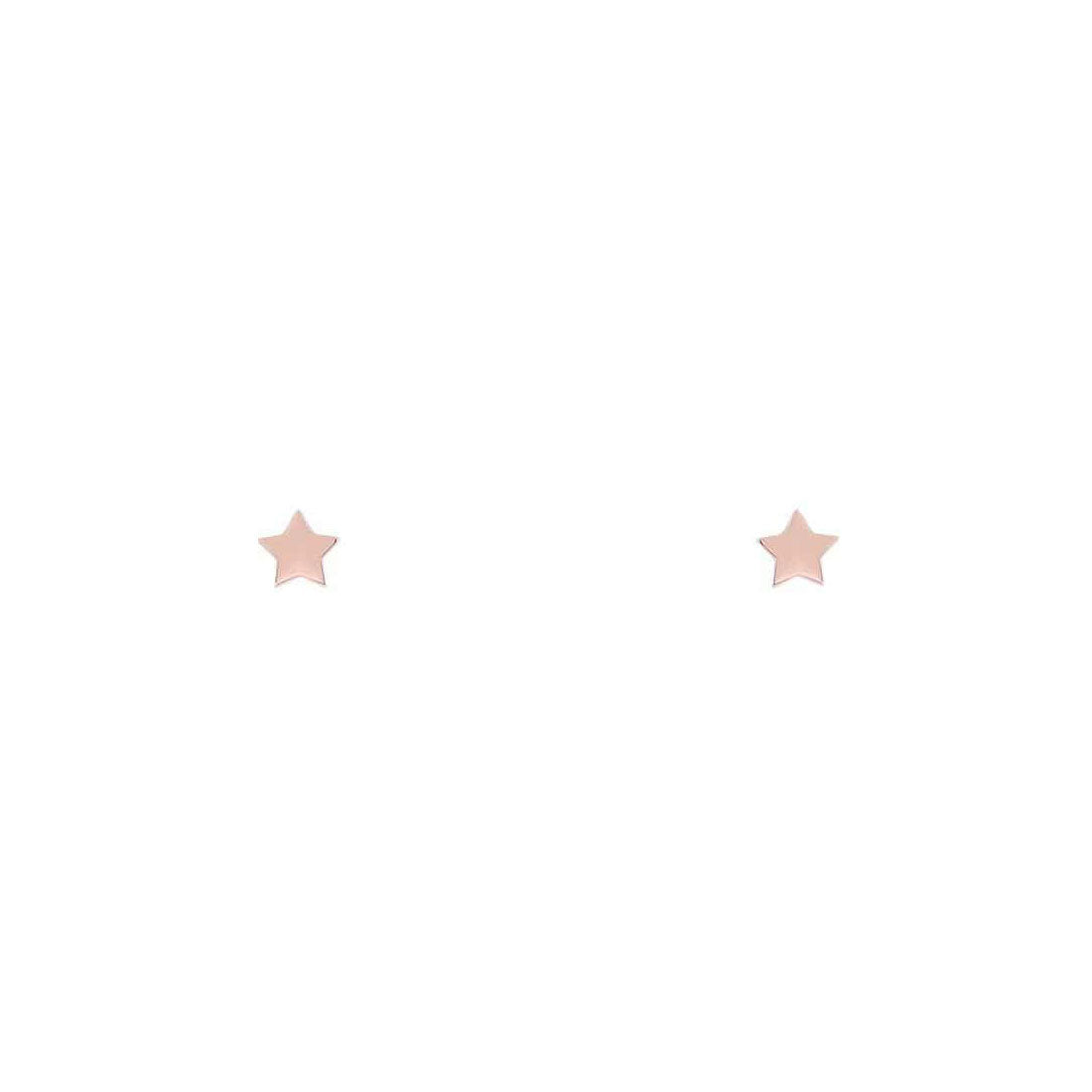Midsummer Star Earrings Rose Gold Astra Star Studs
