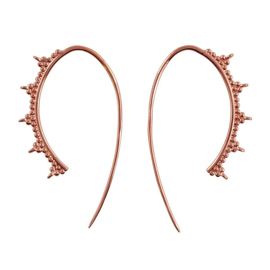 Midsummer Star Earrings Rose Gold Evoke Hoops