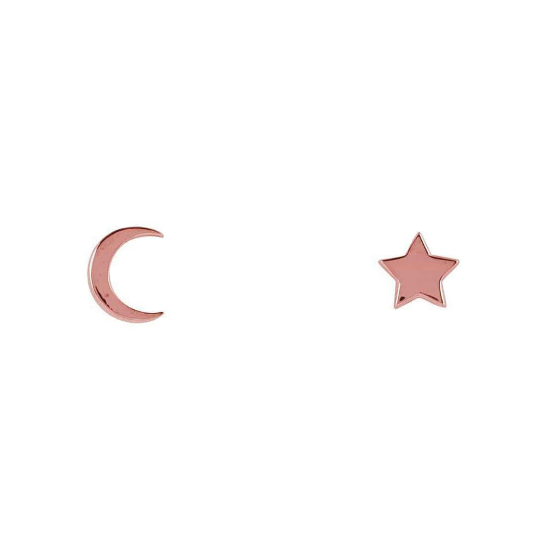 Midsummer Star Earrings Rose Gold Galaxy Studs