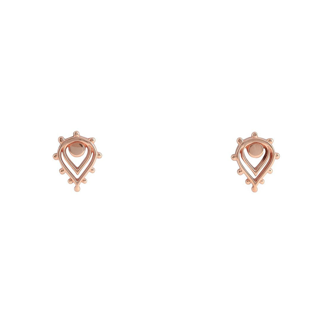 Midsummer Star Earrings Rose Gold Vermeil Sunset Studs