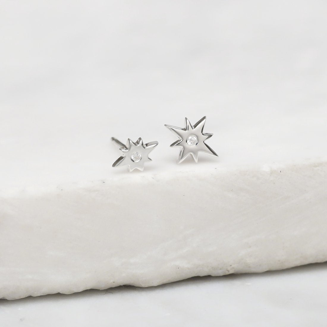 Midsummer Star Earrings Sparkling Celestial Studs