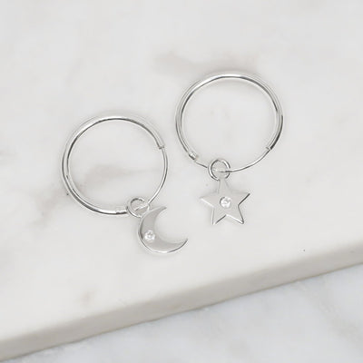 Midsummer Star Earrings Sparkling Galaxy Sleepers