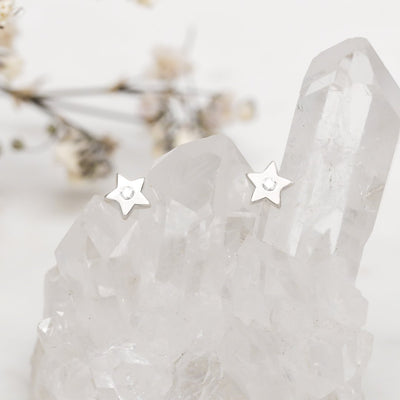 Midsummer Star Earrings Sparkling Star Studs