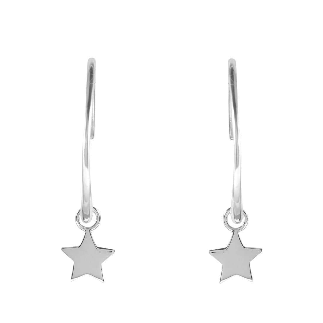 Midsummer Star Earrings Star Light Hoops