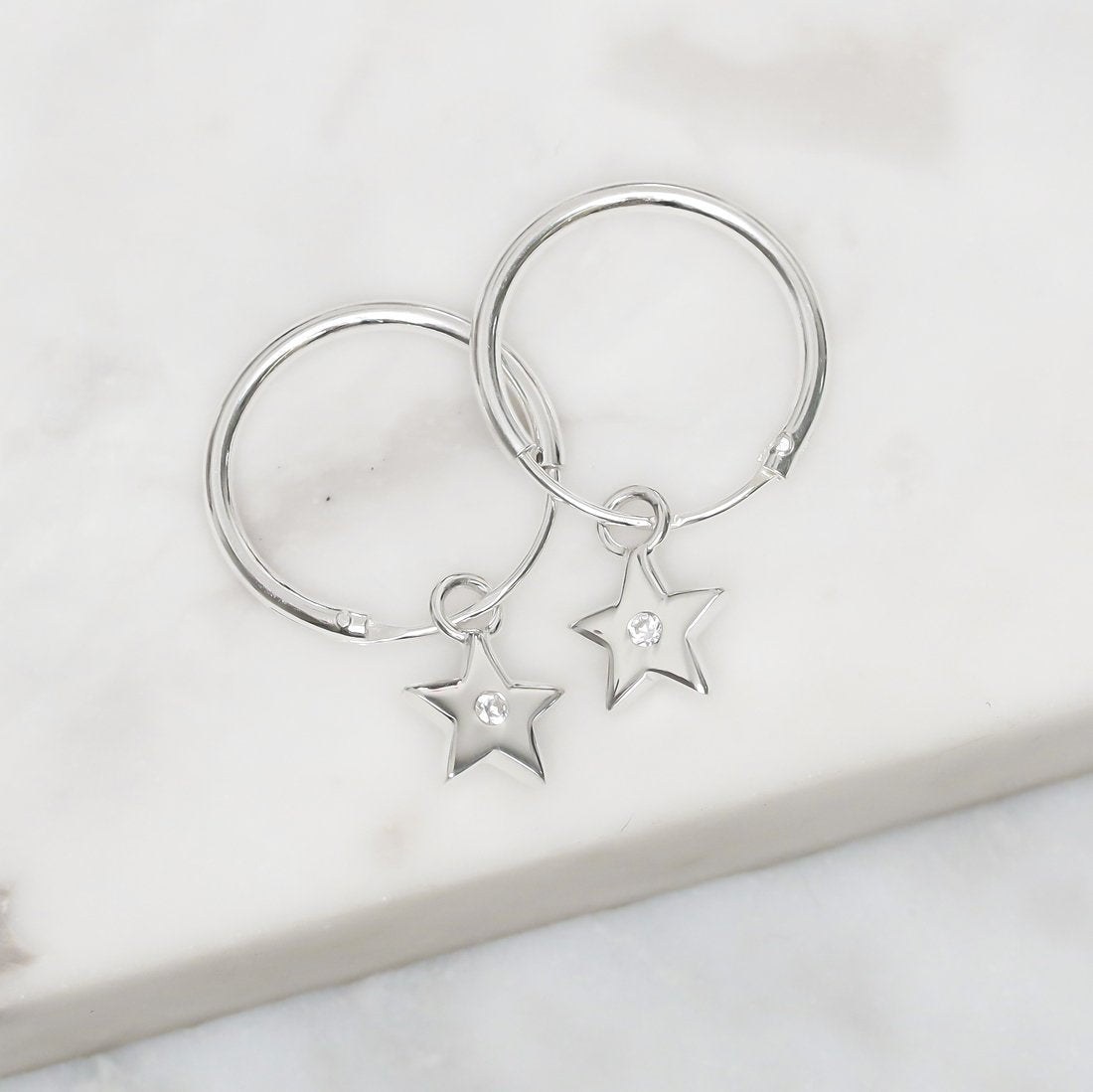 Midsummer Star Earrings Star Sparkle Sleepers