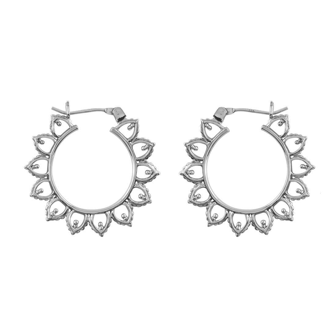 Midsummer Star Earrings Sun Halo Hoops