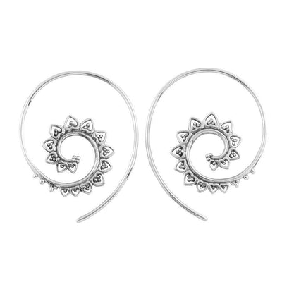 Midsummer Star Earrings Tribal Spiral Earrings