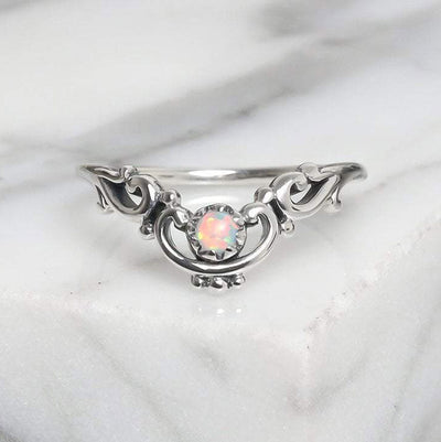 Mermaids Crown Opal Ring