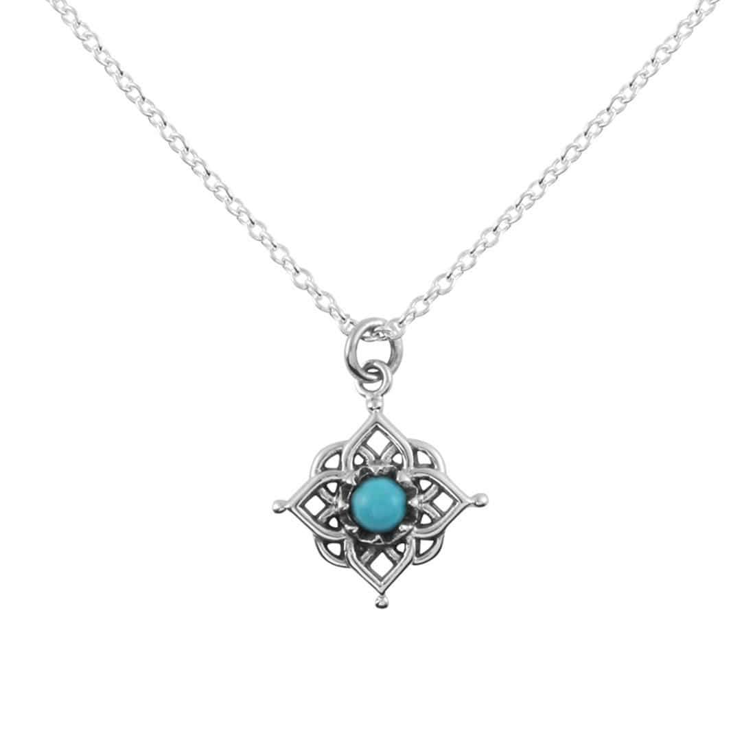 Midsummer Star Necklaces Cosmic Mandala Turquoise Necklace
