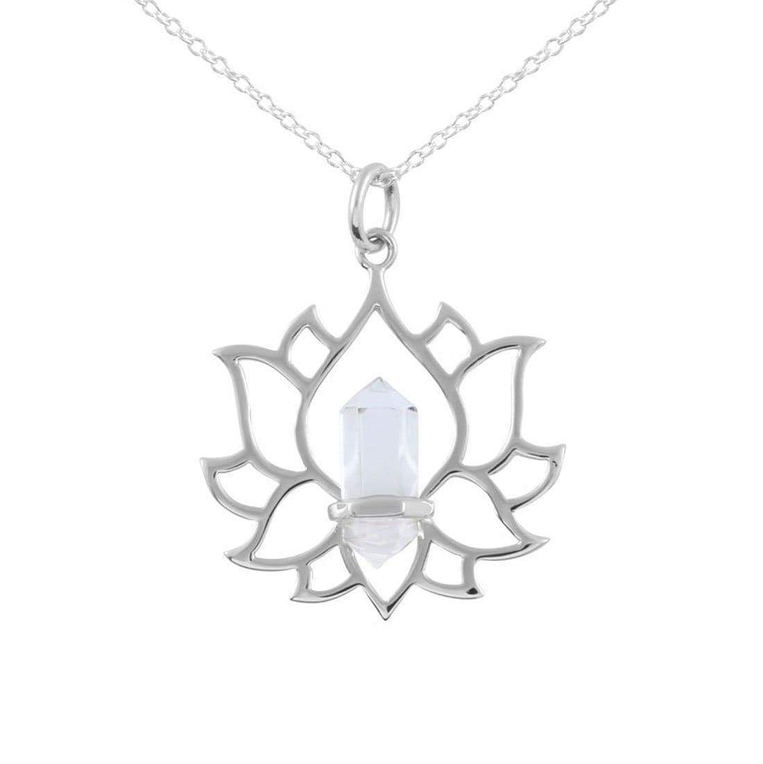 Midsummer Star Necklaces Clear Quartz Everlasting Lotus Necklace