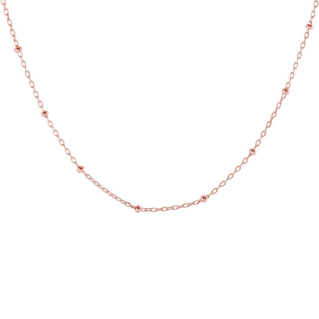 Midsummer Star Necklaces Rose Gold Disco Chain Necklace
