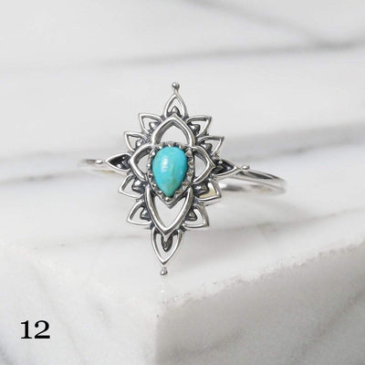 Midsummer Star Ring 12 - Turquoise / 5 12 Days of Festivities - Sample Sale 1