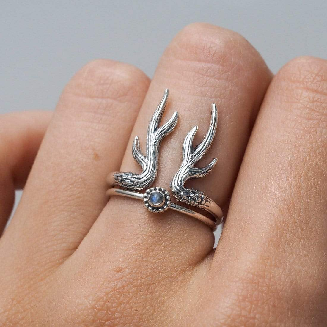 Midsummer Star Ring Antler Ring