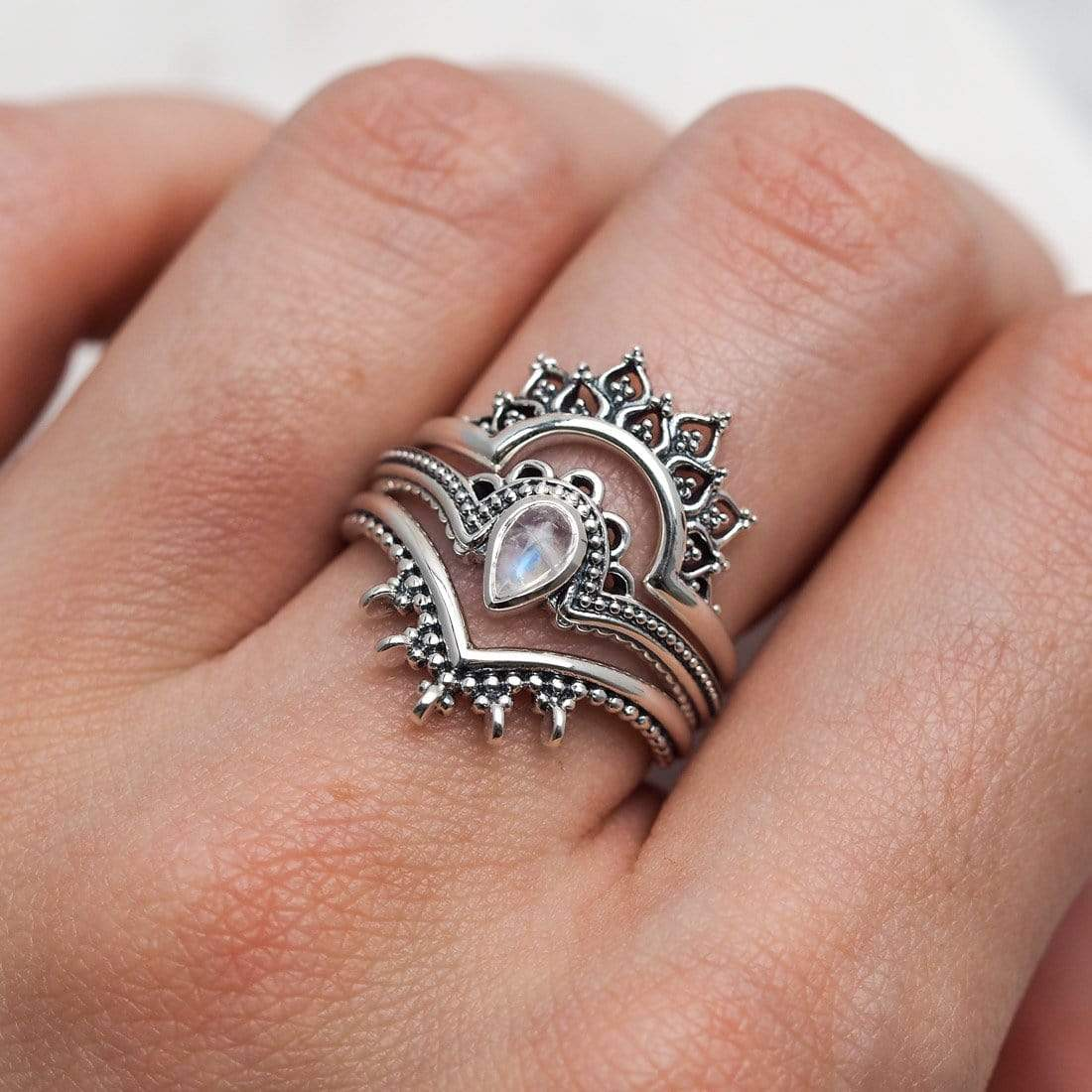 Midsummer Star Ring Ataraxia Moonstone Ring