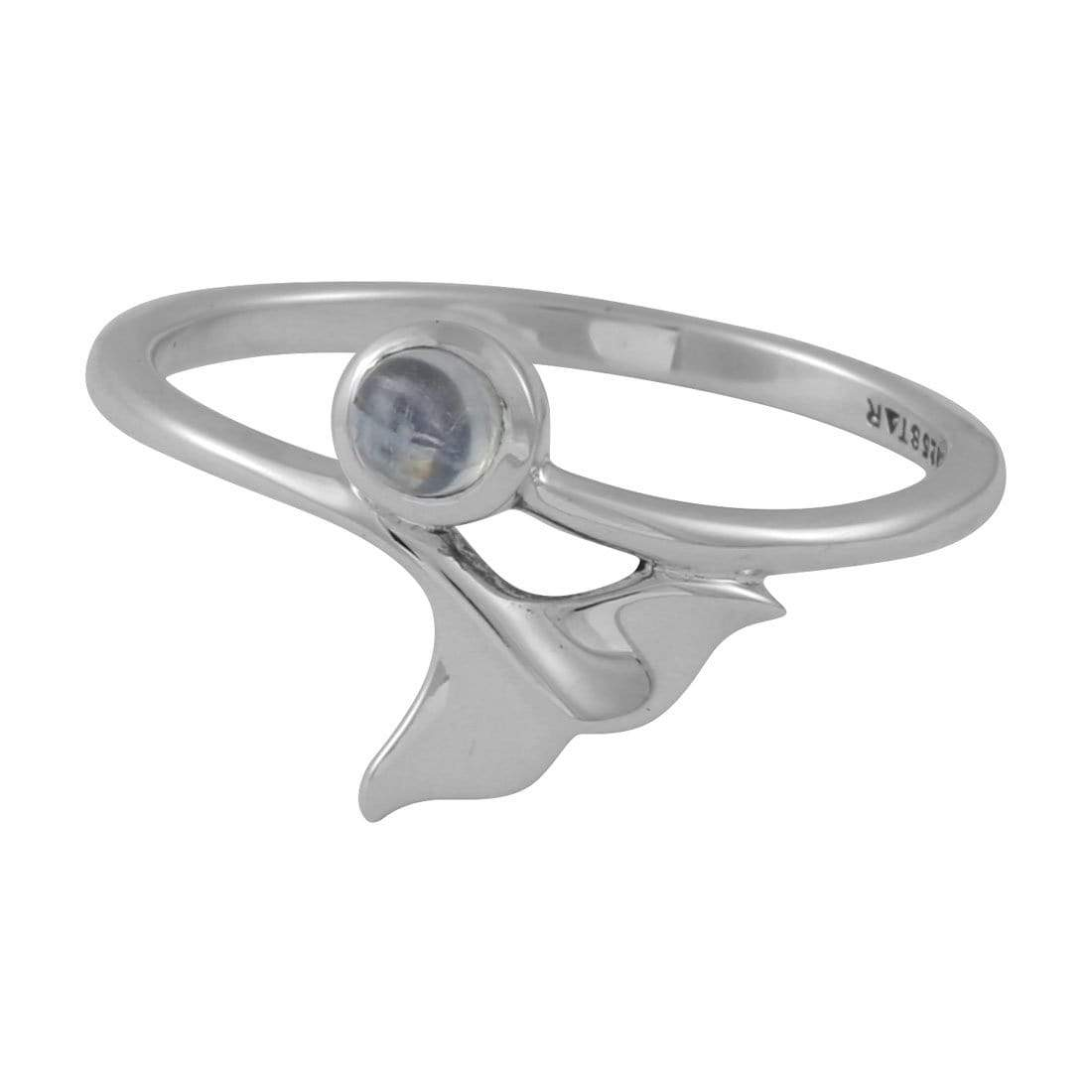 Midsummer Star Ring Atlantis Dolphin Rainbow Moonstone Ring