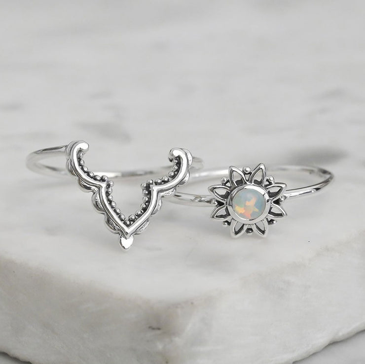 Casablanca Opal Ring Set