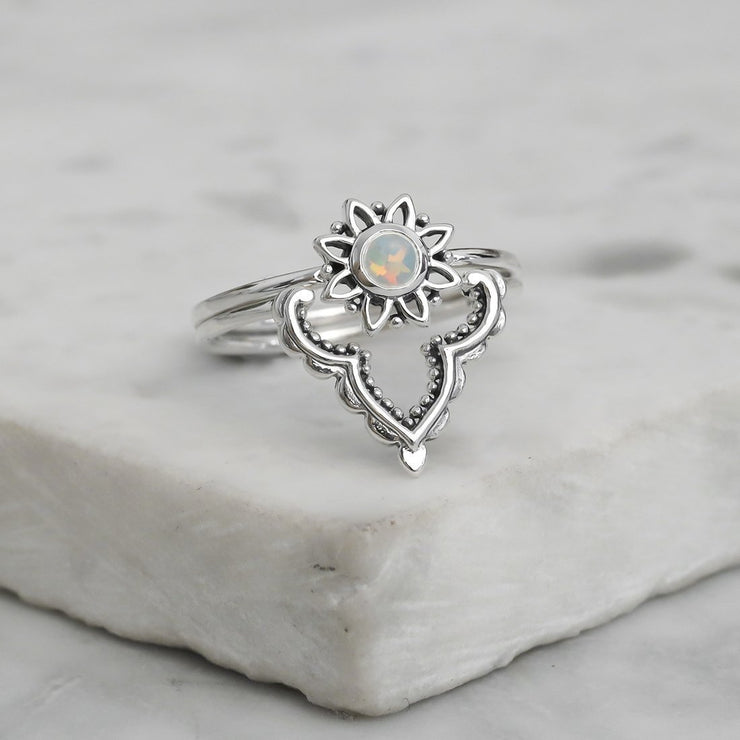 Midsummer Star Ring Casablanca Opal Ring Set
