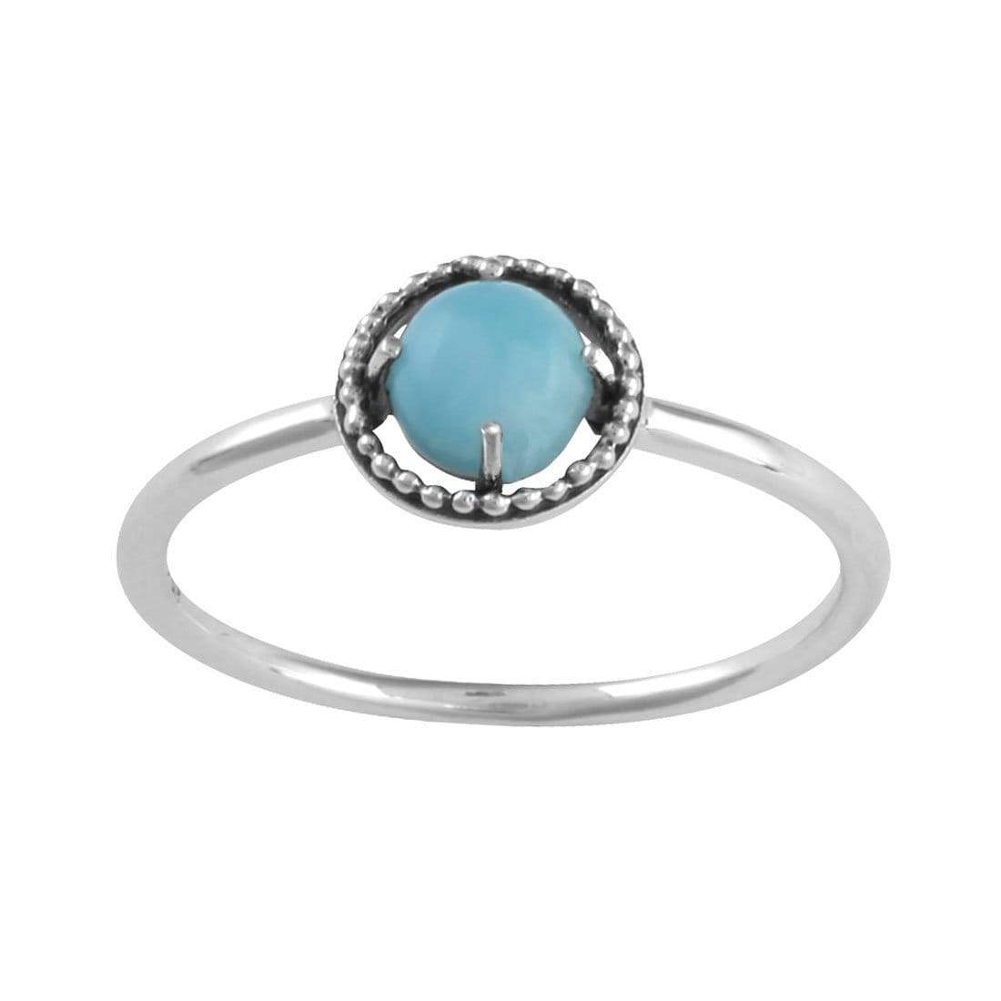 Midsummer Star Ring Cosmic Unity Larimar Ring