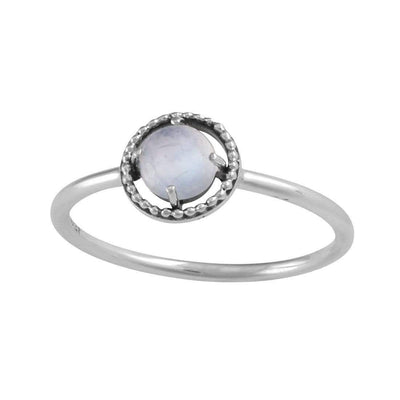 Midsummer Star Ring Cosmic Unity Moonstone Ring