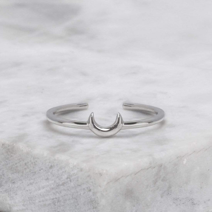 Midsummer Star Ring 4 Crescent Adjustable Ring