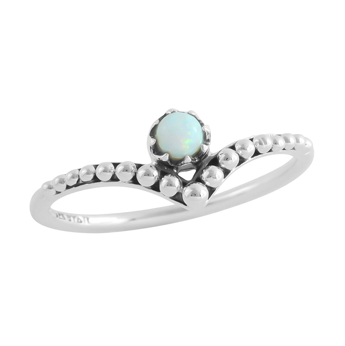 Midsummer Star Ring Dainty Spheroids Opal Ring
