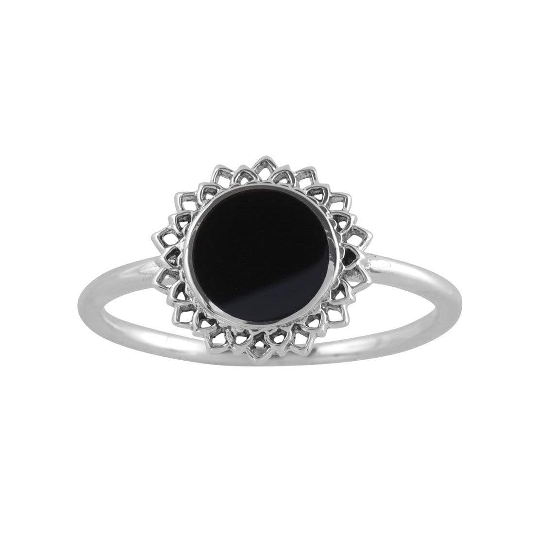 Midsummer Star Ring Dark Coral Ring