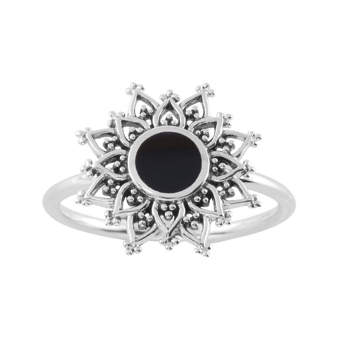 Midsummer Star Ring Dark Gravity Onyx Ring