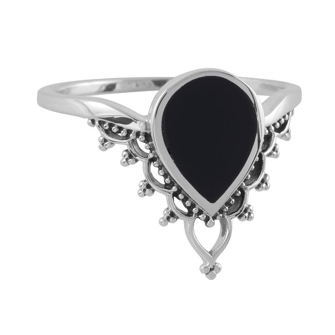 Midsummer Star Ring Deep Springs Onyx Ring