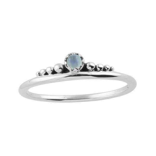Midsummer Star Ring Delicate Crown Moonstone Ring