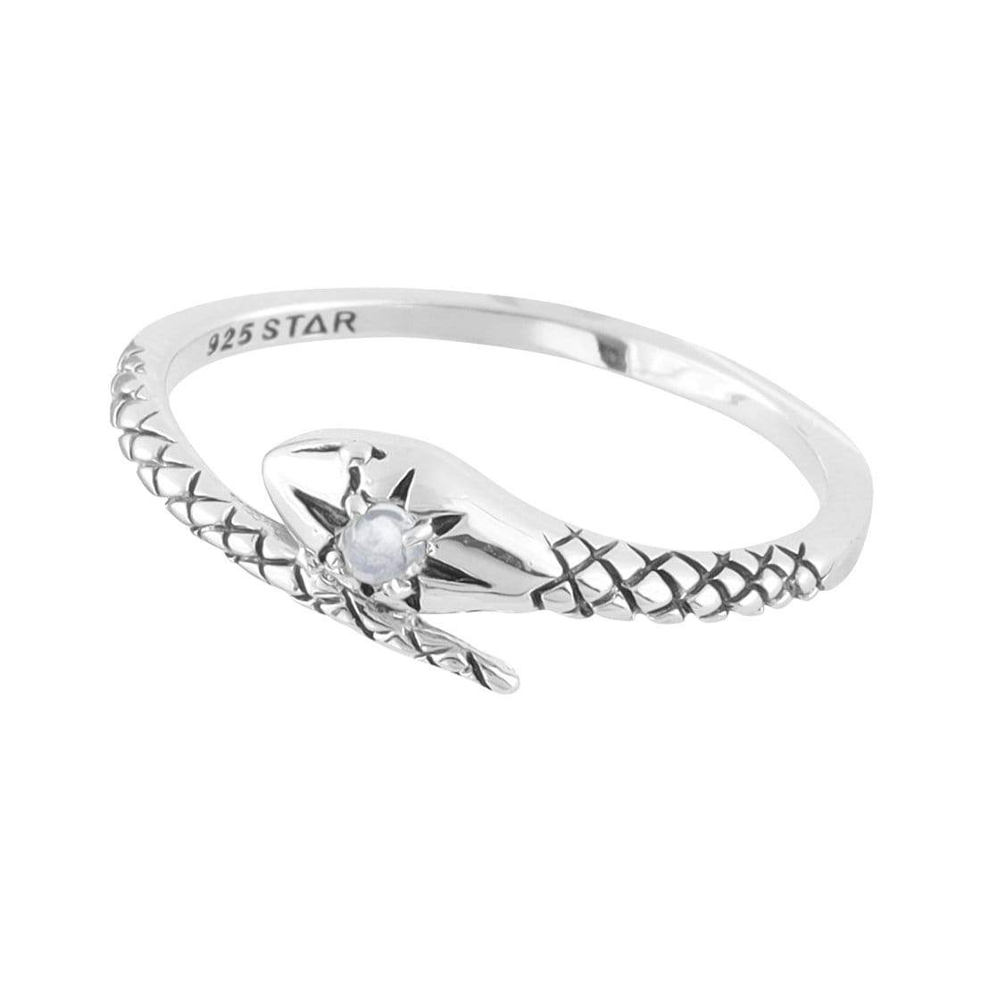 Midsummer Star Ring Divine Serpent Moonstone Ring