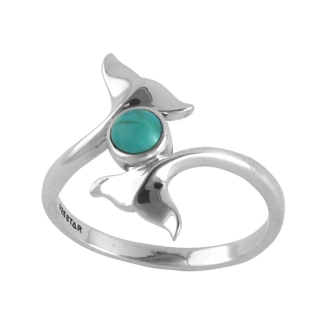 Midsummer Star Ring Dolphin Tails Turquoise Ring