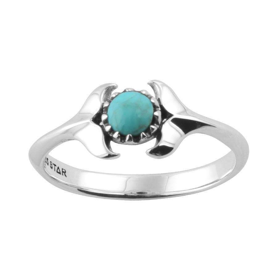 Midsummer Star Ring Dolphins Embrace Turquoise Ring