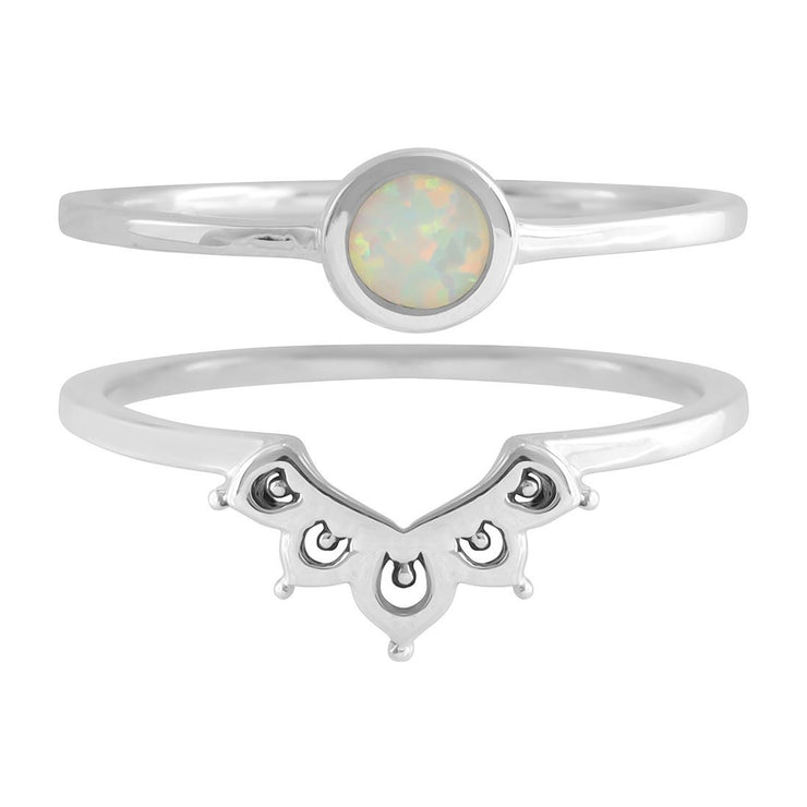 Midsummer Star Ring Elixir Opal Ring Set