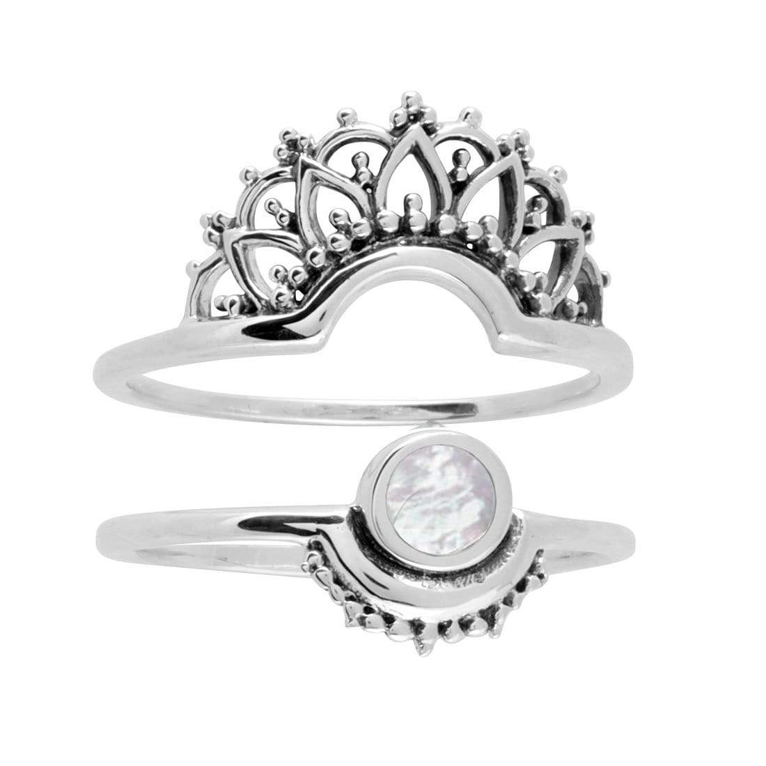 Midsummer Star Ring Emanate Pearl Ring Set