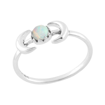 Midsummer Star Ring Encapsulating Moons Opal Ring