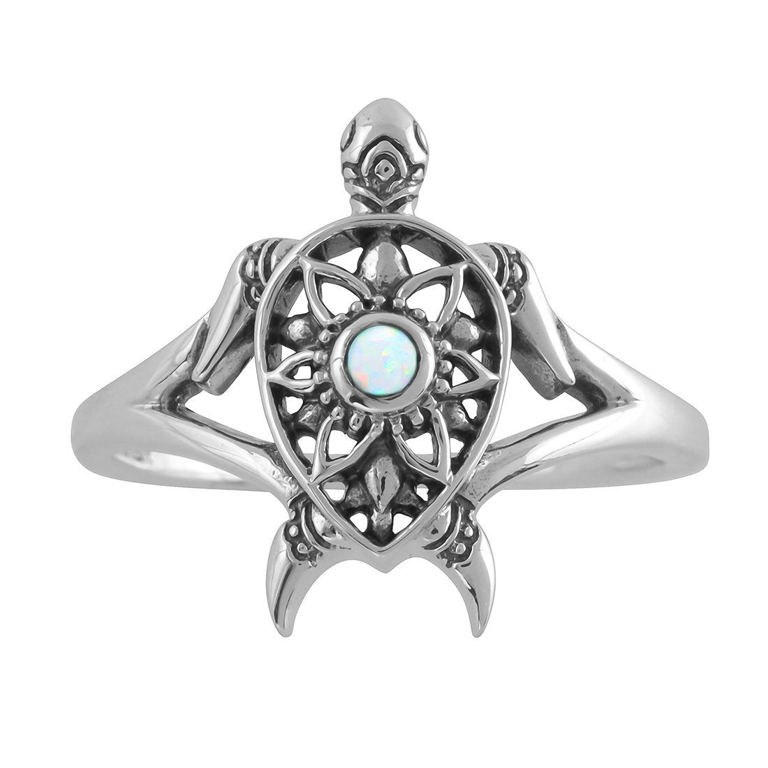 Midsummer Star Ring Enlightened Opal Spirit Turtle Ring