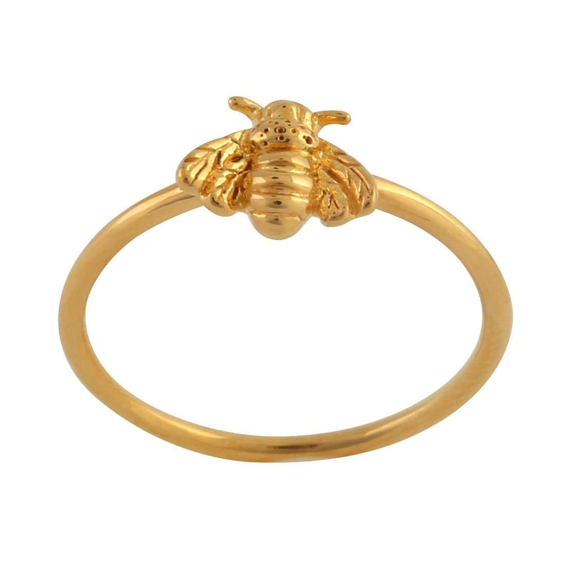 Midsummer Star Ring Gold Bee Pollination Ring