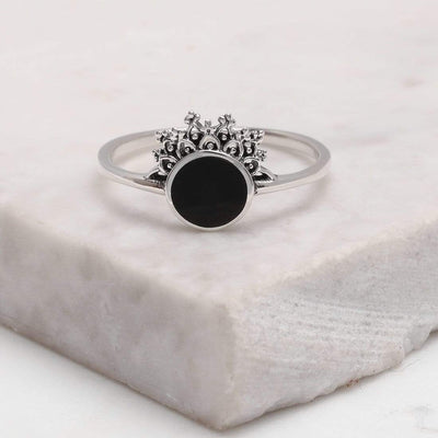 Midsummer Star Ring Halley's Comet Onyx Ring