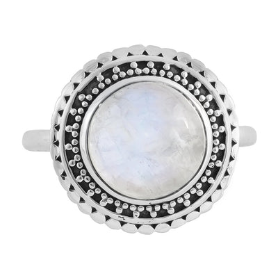 Midsummer Star Ring Hidden Doorway Moonstone Ring