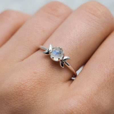 Midsummer Star Ring Lunar Moonstone Ring