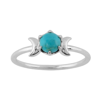 Midsummer Star Ring Lunar Turquoise Ring